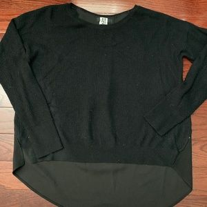 High Low Black S Sweater